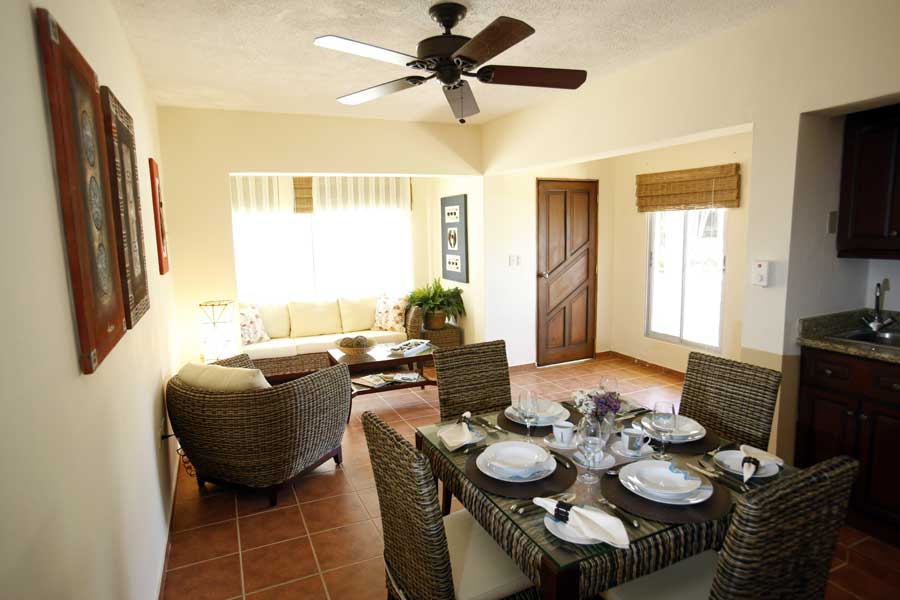 2 bedroom apartment living room Cabarete