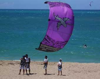 Kitesurfing lesson
