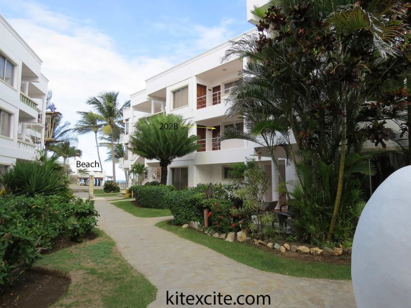 kitebeach hotel walk way to the beach