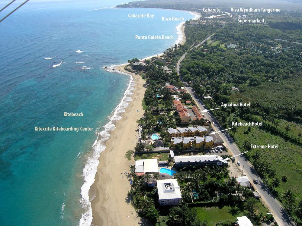 Kite Beach Cabarete view from the air